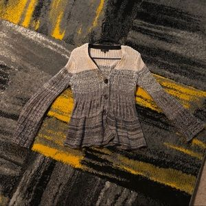 BCBG Bell Sleeve Knit Sweater L